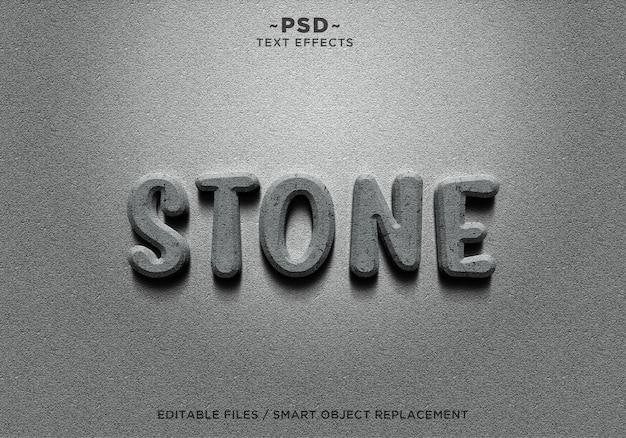 Testo 3d effetti pietra realistici