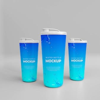 Mockup di bottiglia d'acqua realistica 3d