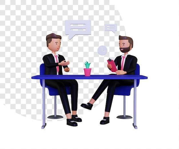 Illustrazione del concetto di reclutamento 3d