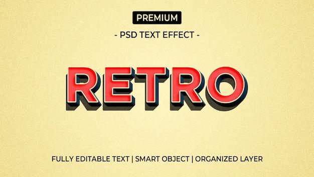 Retro modello rosso di effetto del testo 3d