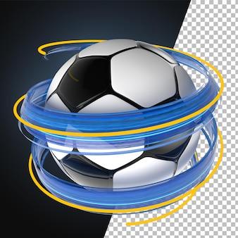 3d render palla spruzzata vernice calcio calcio