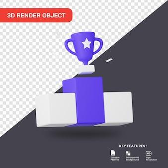 Icona del trofeo del campione di rendering 3d
