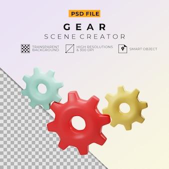 Rendering 3d creatore di scene di paura colorate