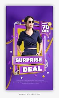 3d rendono l'insegna variopinta di promozione di sconto di vendita