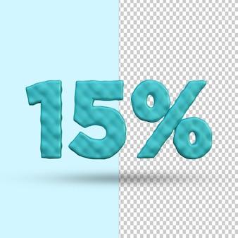 Concetto di rendering 3d 15% di sconto premium psd premium psd