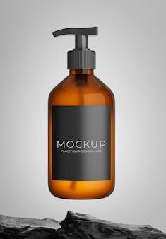 Rendering 3d della bottiglia di cosmetici con per la visualizzazione del prodotto