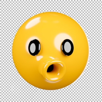 Rendering 3d di emoji o emoticon con sfondo trasparente, tracciato di ritaglio.