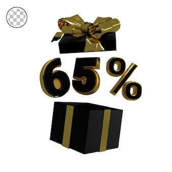 3d rendono l'oro sessantacinque percento