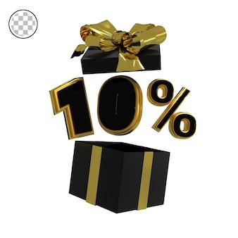 3d rendono l'oro al dieci percento
