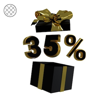 3d rendono l'oro trentacinque percento