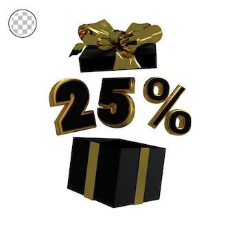 3d rendono l'oro venticinque percento