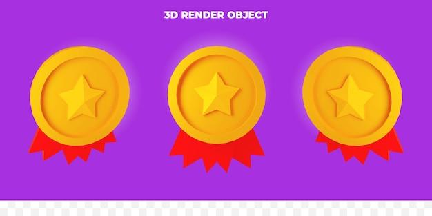 3d rendono la medaglia della stella d'oro