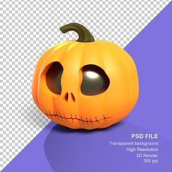 Rendering 3d zucca di halloween felice