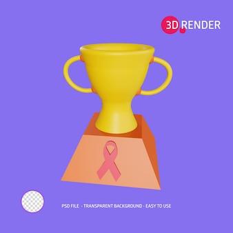 L'icona di rendering 3d aiuta il premio della giornata