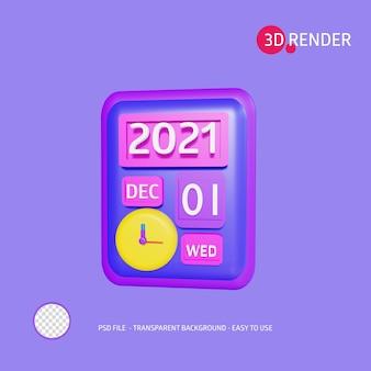 L'icona di rendering 3d aiuta il giorno