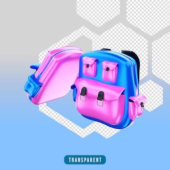 Icona di rendering 3d borsa
