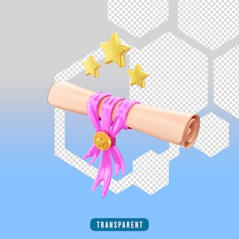 Icona di rendering 3d certificato