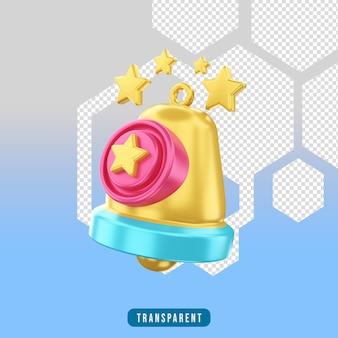 Notifica e-commerce icona rendering 3d