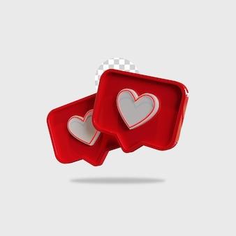 Icona di rendering 3d come il design di instagram