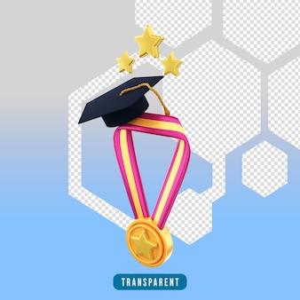 Icona di rendering 3d medaglia