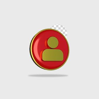 3d rendering icona persone design