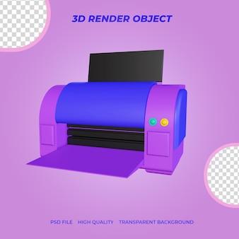 Stampante icona render 3d