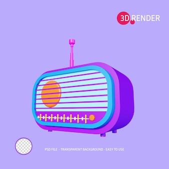 Icona rendering 3d radio
