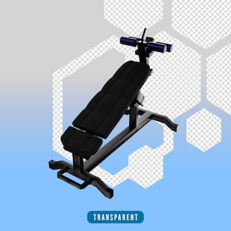 Icona di rendering 3d attrezzi da palestra sit up bench