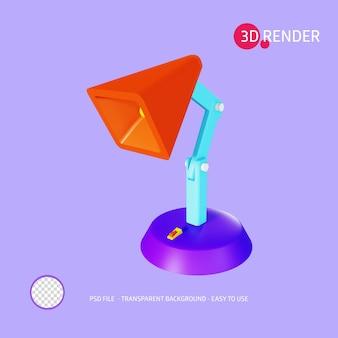 3d render icon lampada da studio