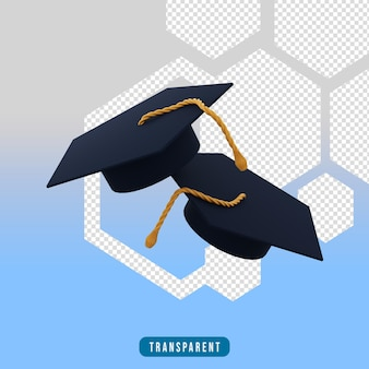Icona di rendering 3d toga hat