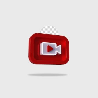 3d render icona video design
