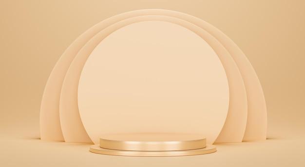 3d rendono l'illustrazione del design minimale del podio
