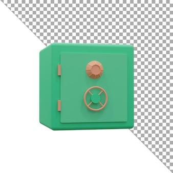 3d render illustrazione cassetta di sicurezza