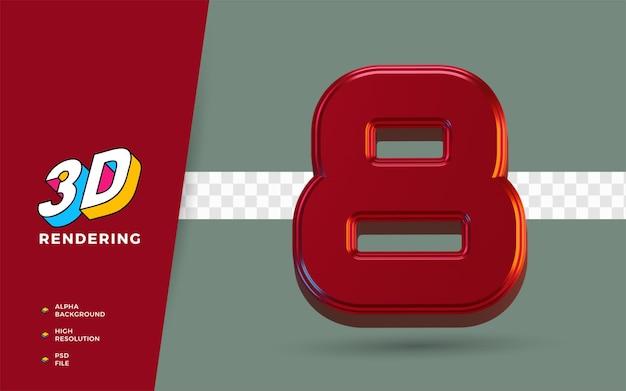 3d render simbolo isolato dei mesi di marzo del calendario per promemoria o pianificazione quotidiana