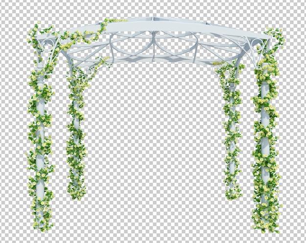 Rendering 3d piante di edera isolate
