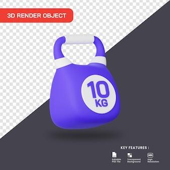 3d render icona kettlebell