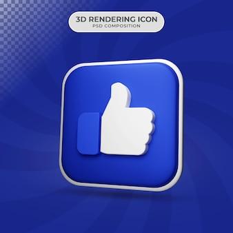 Rendering 3d di un design simile all'icona
