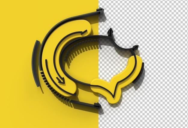 File psd trasparente della finestra del messaggero di rendering 3d.