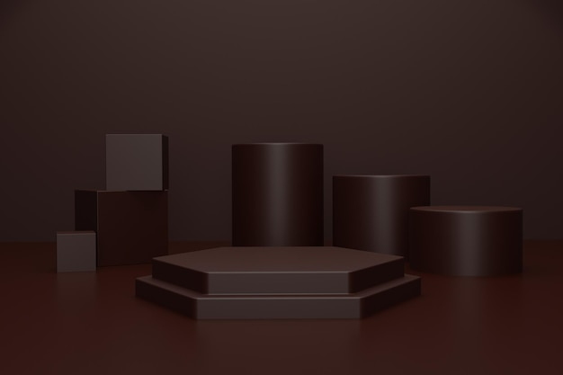 Palcoscenico di rendering 3d per la presentazione del prodotto