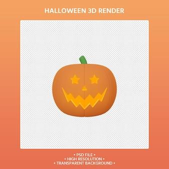 Rendering 3d di zucca halloween concept