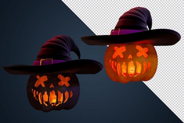 3d render pumpkins elemento di halloween per poster e flye di eventi