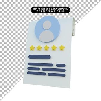 Icona di valutazione rendering 3d