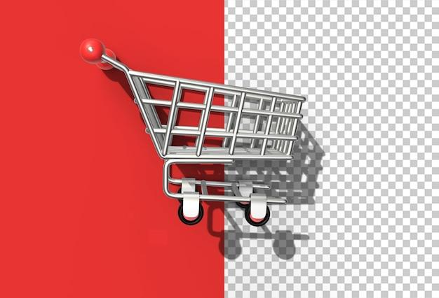 3d render shopping cart icon illustration design
