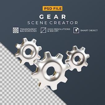 Creatore di scene di paura d'argento di rendering 3d