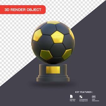 3d rendono l'icona del trofeo del pallone da calcio