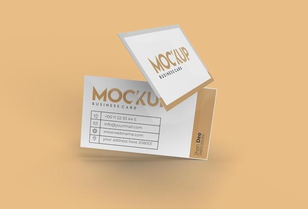 3d rendering stack biglietti da visita mockup design.