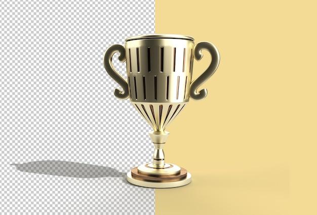 Coppa del trofeo di rendering 3d.