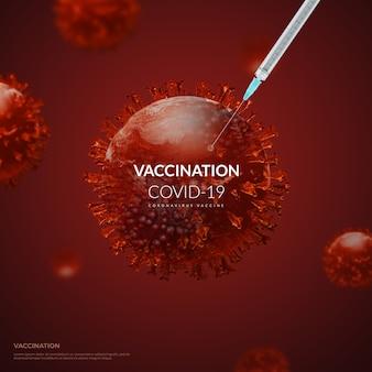 Rendering 3d vaccino contro il coronavirus