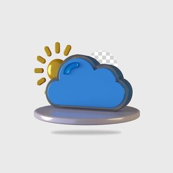 Rendering 3d del design dell'icona del tempo