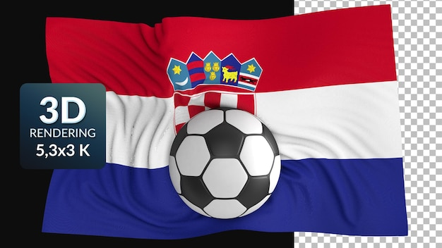 3d rendono la bandiera del mondo calcio calcio